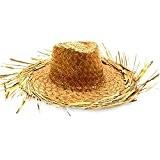Chapeau de paille avec franges tressé taille unique