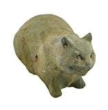 Chat du Cheshire Alice au pays des merveilles Vert-de-gris Finition Ciment Statue 14en.