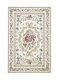CHNEGYANG Maison du Tapis Traditionnel Oriental Tapis Moquette Flore Tapis pour Chambre/Salon 2601 Beige 60cm x 90cm
