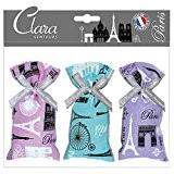 Clara en Provence - Sachet Cadeau 'Paris' 3 x Fleurs de Lavandin