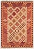 Classique tapis orient traditionnel 160x230cm kilim KE01 Rouge Rose Rose 80% laine 20% JUTE