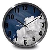 CNBBGJ Black sky sky réveil personnalisé, simple paysage de papier peint, salle de séjour, les montres à quartz électronique,C