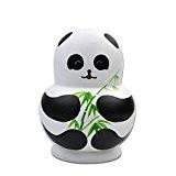 Cociy Série de 10pcs Poupées Russes Panda Matriochkas en Bois Peints