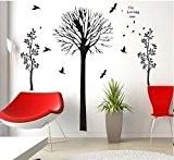 COM - Stickers muraux Arbre d'amour + arbre d'automne Walplus Combo arbre à oiseaux d'automne oiseaux arbre mur autocollants stickers ...