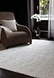 Concepteur de tapis à poils longs Shaggy Samson Ivoire Tapis blanc / gris