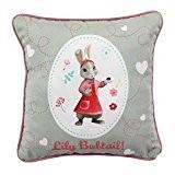 Coussin Pierre Lapin Lily Bobtail Extra Doux Lin Rose 25x25cm Peter Rabbit - Suédine coton