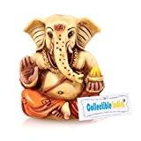 Craftvatika bénédiction Ganesha Idol Mango Idéal Murti Marbre Statue de Ganesh Diwali Décoration intérieure Sculpture doté