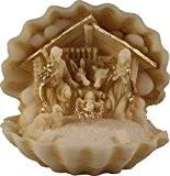 Crèche de Noël en albatre coloré H. 7 CM finition à la main Nativity set