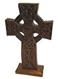Croix celtique Décoration en bois commerce équitable 28 cm