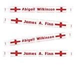 Croix de St George Angleterre tissé 100nominettes pour vêtements de 100Custom Fer–Sur 9mm Rouge
