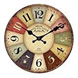 Cru Horloge Murale Rustique Minable Décor Cuisine Maison Chic De 30cm En Bois - # 22, XL