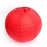 """Dazone®12""""(30cm)Lampion Chinois Abat-jour en Papier Lanterne Boule pour Décoration de Mariage Maison Noël Fête etc.(Lot de 10pcs) (Rouge)"""