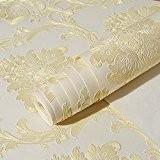 De style européen élégant papier peint gaufré Chambre Papier peint Tissus non tissé plat Salon mur de fond d'écran de ...
