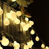 Dealbeta Guirlande Lumineuse Interieur, 10M 100 ampoules LED sphériques, alimentation électrique, prise EU standard, .Décoration Pour Noël Fête, Jardin, Mariage ...