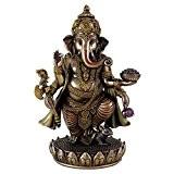 Debout Ganesh Idol Sculpture en Bronze coulé à froid d'de Ganesh Dieu Hindou-Figurine-Gifts Charm Statue de Lord etc