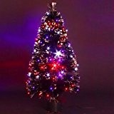 DECO NOEL - Sapin de Noël artificiel lumineux en fibre optique + 136 LED - livré dans son pot - ...