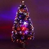 DECO NOEL - Sapin de Noël artificiel lumineux en fibre optique + 88 LED - livré dans son pot - ...