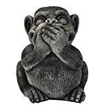 Décoration – Singe (Singe de la sagesse qui ne parle pas), en pierre reconstituée, importés de Thaïlande (10274)