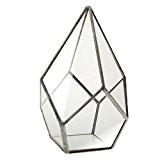 Decorative Vase de Fleurs en Verre Diamant Clair Forme Géométrique Fantaisie Ornement pour Maison Mariage - Argent, 12 x 12 ...