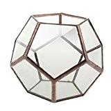 Decorative Vase de Fleurs en Verre Diamant Clair Forme Géométrique Fantaisie Ornement pour Maison Mariage - Cuivre 2, 10 x ...