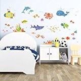 Decowall DAT-1611 Aventure en Mer Autocollants Muraux Mural Stickers Chambre Enfants Bébé Garderie Salon