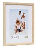 Deknudt Frames S220H1 Basic Cadre Photo Etroit Bois Naturel 21 x 29,7