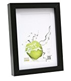 Deknudt Frames S40AK2 P1 Cadre Photo Basic avec Passe Partout Moulure Haute en Bois/MDF Noir 40 x 50 cm