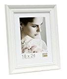 Deknudt Frames S45HF1 Cadre Photo avec Filet Perlé Bois Blanc 20 x 30 cm