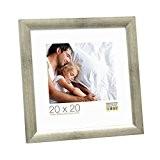 Deknudt Frames S54SD7 Cadre Photo Bois Gris/Argenté 40 x 60 cm