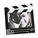 Deknudt Frames S58RJ3H Plexi Cadre Photo Motif Film Horizontal Résine Noir 10 x 15 cm