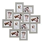 Deknudt Frames S65SV7 - Cadre Multi-Photos 12 Ouvertures Gris 10 x 15 cm