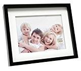 Deknudt Frames S66VK2 - P1 - Cadre Photo avec Passe-Partout pour 1 Photo Noir 13 x 18 cm