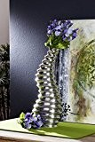 Design vase décoratif argenté special 41 cm-vase moderne en aluminium