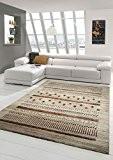Designer Tapis contemporain salon tapis conception baroque Brown Beige Taupe Rouge Größe 200 x 290 cm