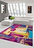 Designer Tapis contemporain Tapis Oriental salon motif de cercle de tapis à la crème Ror Jaune Turquoise Coloré Größe 160x230 ...