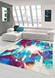 Designer Tapis contemporain Tapis Oriental salon tapis crème Heather Red Turquoise Coloré Größe 160x230 cm