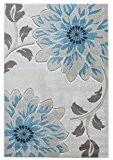 Designer Tapis moderne 160x230cm Tapis bleu Tresco