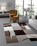 Designer tapis moderne à poils de salon moderne tapis marron/beige, 160 x 230 cm