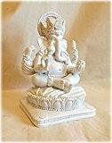 détaillée blanc Ganesh Figurine Statue Décoration