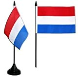 Digni® Drapeau de table Pays-Bas, mini drapeau - 10 x 15 cm