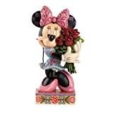 Disney Traditions 4031480 Figurine Minnie avec des Fleurs Résine 16 cm