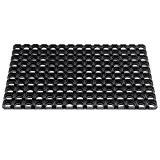 DOMINO Paillasson en caoutchouc extrêmement robust pour usage extérieur, 40 x 60 cm. Couleur noir.