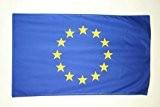 DRAPEAU EUROPE 150x90cm - DRAPEAU EUROPÉEN - UNION EUROPÉENNE - UE 90 x 150 cm Polyester léger - AZ FLAG