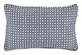 Dutch Decor  Anke – coussin, 30x50 cm, bleu foncé - coton polyester