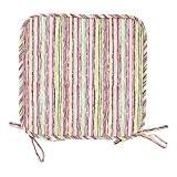 Dutch Decor  Timeo – Galette de chaise, 38, 5x38, 5 cm, multi  - coton
