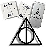 EasyTime UK TM Harry Potter Deathly Hallow's, and Light Switch Sticker Gift Pack by EasyTime Uk (TM)
