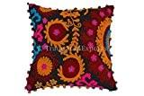 Échanges Star Suzani Coussin 40 x 40 cm, de Bohême-Pom Pom Housse de coussin, couvre-lit et taies d'oreiller décoratif