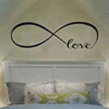 Ecloud Shop® Wall Decal of Love Personalized Infinity Symbol Chambre Wall Decal Bedroom Decor Quotes Vinyl Stickers muraux