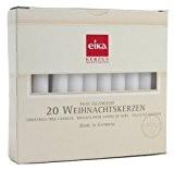 Eika 20 Bougies pour sapin de Noël, dimensions: h 10,5 x d 1,2 cm, couleur blanches