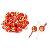 En forme de citrouille glands Adorn Décoration en forme de lanterne chinoise Rouge Lot de 30
